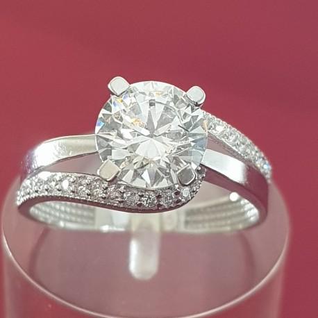 Prsten belo zlato 2